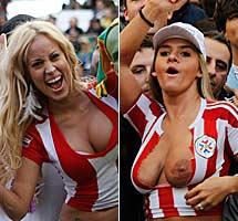 Dos seguidoras paraguayas.
