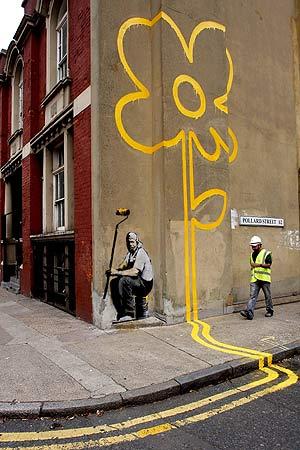 El último trabajo del 'grafittero'. (Foto: AP)
