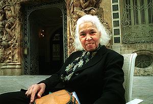 La escritora, en una visita a Valencia en 2003. (Foto: Vicent Bosch)