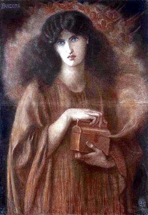 Cuadro 'Pandora', obra del pintor del siglo XIX Dante Gabriel Rossetti. (Foto: EPA)