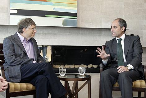 Francisco Camps y Bill Gates, este viernes en Washington tras alcanzar el acuerdo | E.M.