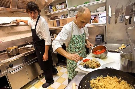 La 'sala de máquinas' de este restaurante bilbaino. | Mitxi