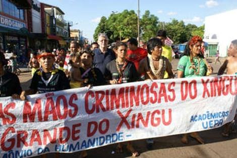 Manifestación de los indígenas.| www.survival.es