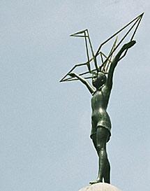 Monumento a la niña Sadako.