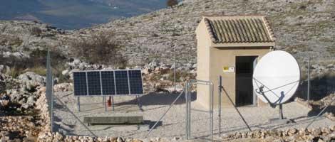 La estación sísmica EGOR, en Sierra Gorda, Loja (Granada). | IGN.