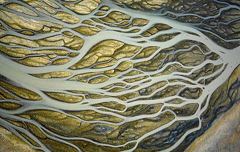 Vista aérea del estuario en la finca Veta la Palma. | Héctor Garrido