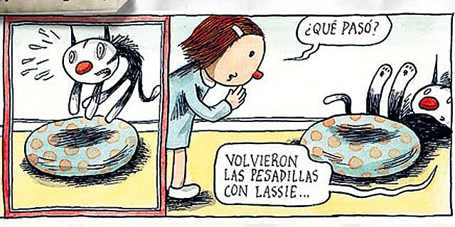 Detalle de una de las tiras que puede leerse en porliniers.com