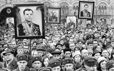 Funeral de Gagarin en Moscú. | ITAR TASS.