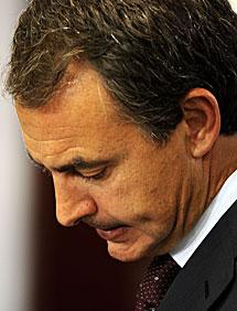 Zapatero, al comparecer. | AFP