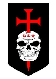 La insignia propuesta para la milicia europea, los Justiciar Knight.