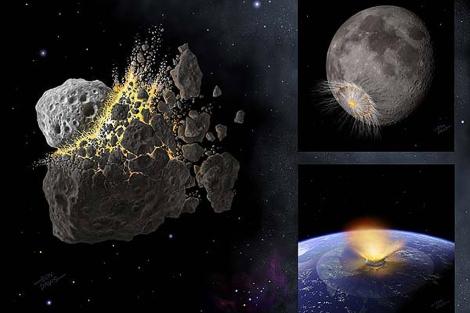 Reconstrucción del meteorito que arrasó la Tierra. | Nature