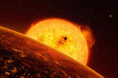 Recreación de un exoplaneta similar a la Tierra captado por CoRoT. | ESA
