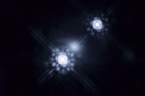 Imagen captada  por el telescopio del entorno del agujero negro. | NASA