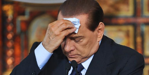 Silvio Berlusconi durante una comparecencia pública.| Afp