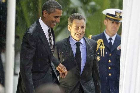 Obama y Sarkozy, durante la cumbre del G-20 en Cannes. | Ap