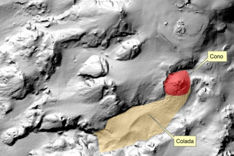 Mapa del IEO sobre el estado del volcán el 24 de octubre. | IEO