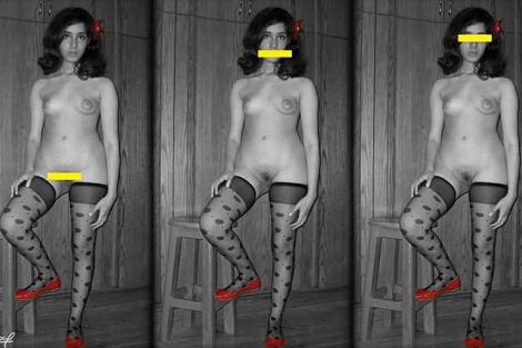 Imágenes que la joven egipcia ha publicado en Internet.
