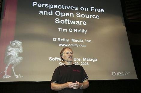 O'Reilly, ideólgo del concepto 'web 2.0', durante su intervención en el Foro.