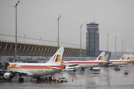 La plataforma de la terminal 4 de Barajas, en una imagen de archivo. | Efe