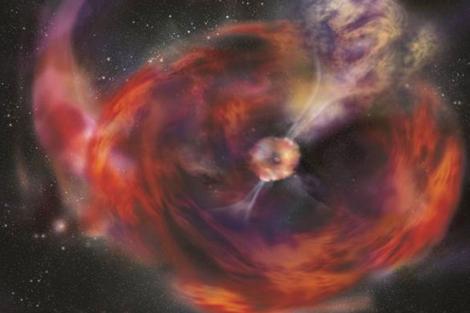 Recreación del estallido de rayos gamma. | 'Nature'