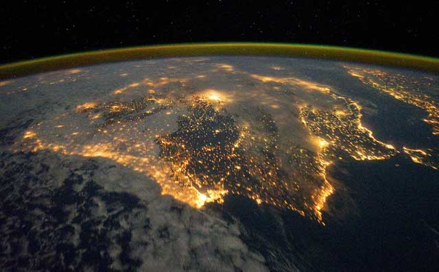 La península ibérica, vista desde la Estación Espacial. | NASA