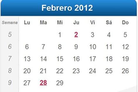 Febrero tendrá 29 días este año, en lugar de 28. | EL MUNDO.