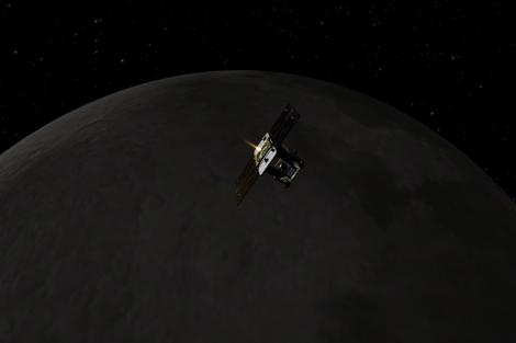 Concepción artística de la misión 'GRAIL' de la NASA.| JPL-Caltech