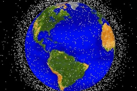 Acumulación de basura espacial en la órbita baja terrestre (LEO). | NASA