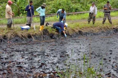 Derrame de petróleo de Texaco, en Ecuador. | El Mundo