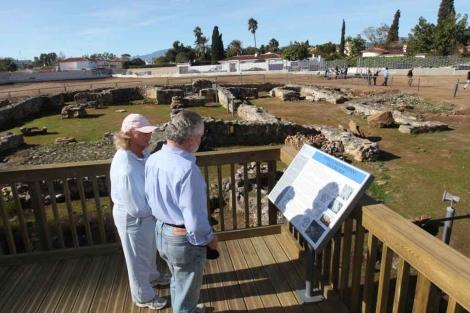 El yacimiento arqueológico Basílica Paleocristiana de Vega del Mar. | ELMUNDO.es