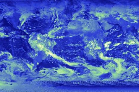 Imagen captada por el satélite Suomi. | NAS