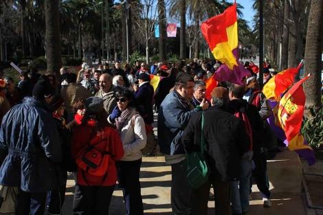 Marcha en conmemoración de la 'desbandá'. | C. Díaz