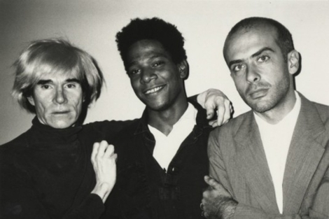 Warhol, Basquiat y Clemente, 1984. | Beth Philipps