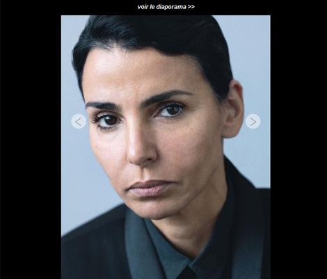 Rachida Dati, caracterizada para el reportaje. | Captura: Marie Claire