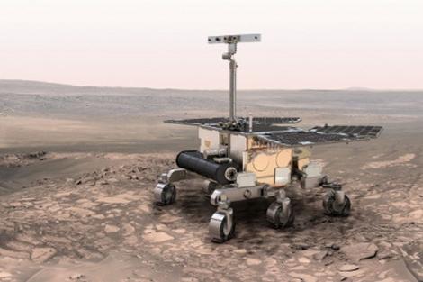 Recreación del vehículo robótico de la misión 'ExoMars'. | ESA