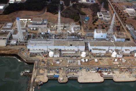 Estado de la central nuclear accidentada de Fukushima. | AFP