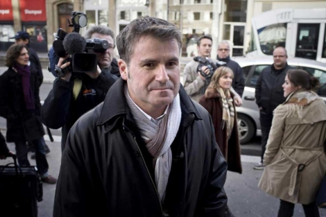 Paul François, a su llegada al tribunal de Lyon en diciembre.  AFP