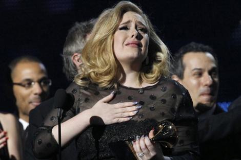 Adele, el fin de semana pasado, en la ceremonia de los Grammy. | Reuters