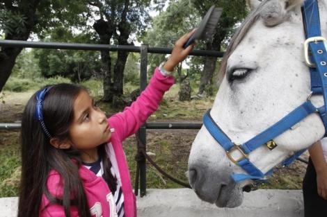 Clases a caballo en familia. | Sergio González