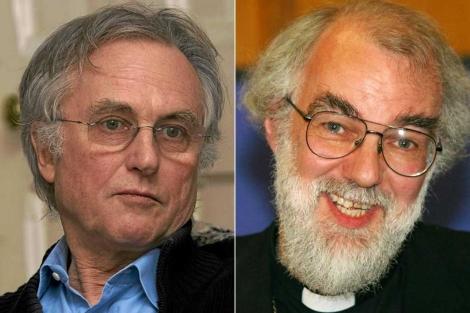 El biólogo Richard Dawkins (i) y el arzobispo de Canterbury, Rowan Williams. | ELMUNDO/AP