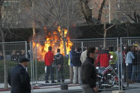 Imagen de los incidentes del Calderón. | Alejandro González - Marca