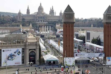 El recinto de plaza Espanya tiene todo listo para la gran cita. | Reuters