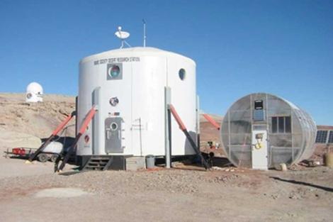 Módulo que se usará para simular un viaje a Marte. | Cornell Univ.