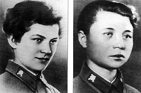 Natalia Kovshova y María Polivanova.
