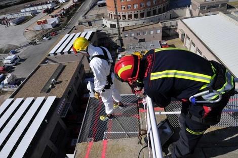 Imagen de las pruebas de los bomberos.