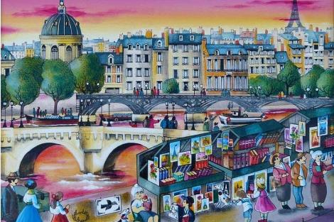 Francia es uno de los países con mayor representación. 'Les Bouquinistes' (LaChapelle).
