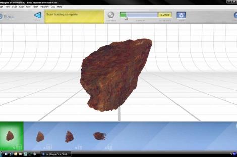 Estudio en tres dimensiones de la roca afectada por el meteorito. | UPM