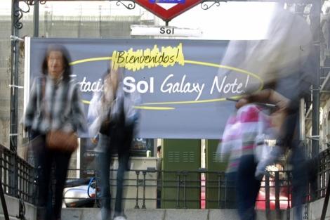 Imagen de la estación de metro de Sol rebautizada. | Efe