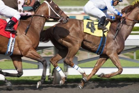 Carrera de caballos en una escena de la serie 'Luck'. | Reuters