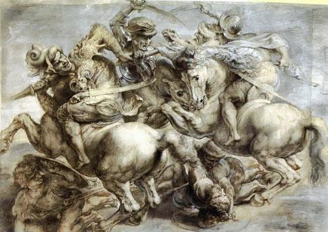 'La batalla de Anghiari' de Rubens.